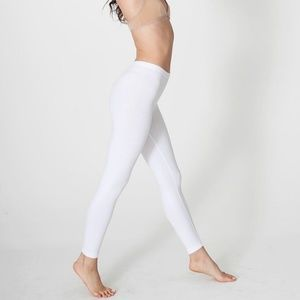 American Apparel White Leggings Small